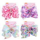 Внешний вид - 8 inch Cartoon JOJO SIWA Rainbow Hair Bow With Alligator Clip Girl Kids Bowknot