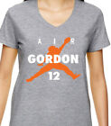 "GREY V-NECK Ladies Cleveland Browns Josh Gordon ""Air"" T-shirt $17.99 USD on eBay"