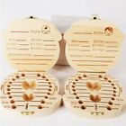 Kids Boy&Girl Wood Tooth Box Organizer Milk Teeth Storage Baby Holder Box Child