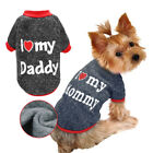 Внешний вид - Small Dog I Love Mummy Daddy Sweater Pet Puppy Padded Coat Clothes for Chihuahua