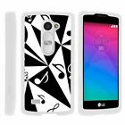 For LG Leon C40 / Tribute 2 / Risio Hard Fitted 2 Piece Snap On Case White