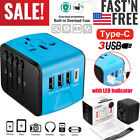 World Travel Adapter All In One Converter Wall Charger Plug Power UK US EU AU