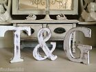 Large Shabby Chic Vintage White Wooden Names  A-z& Initial Letter Freestanding