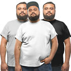 3 Pack Plus Size Mens Tshirt White Black Cotton T shirt Grey Red Navy SALE XXL +