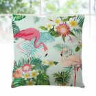 Flamingo Throw Pillow Covers Square Chair Cushion Covers for Outdoor Car Bedroom
