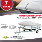 V-HULL Runabout Boat Cover HEAVY DUTY 100% Solution Dyed Polyester