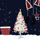 4/5/6/7 FT Tall White Artificial Christmas Tree W/Solid Stand For Holiday Decor
