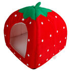 Soft Cute Strawberry Multi-purpose Pets Dog Cat Bed House Kennel Cushion Basket