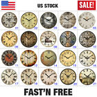 """Large 15"""" Vintage Wooden Wall Clocks Shabby Chic Rustic Kitchen Home Decor Retro"""