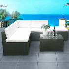 Poly Rattan Garden Sofa Lounge Outdoor Furniture Table Conservatory Wicker Set