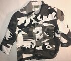 YOUTH HUNTING MILITARY HUNTING PAINTBALL AIRSOFT CAMOUFLAGE JACKET ARCTIC SNOW