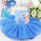 Dog Tutu Dress Spring Summer New Frozen Lace Skirts Clothes For Cat Pets Puppy