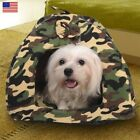 Warm Soft Camouflage Pet Dog Cat Bed House Kennel Doggy Puppy Cushion Basket Pad