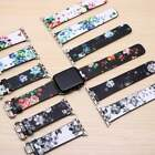 Apple Watch Band Flower Print Floral Design Leather Bracelet Series 4 3 2 1 Nike image