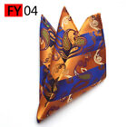 Mens Satin Hanky Suit Wedding Formal Business Handkerchief Pocket Print Square