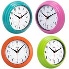 WALL CLOCK Home Kitchen Living Room Bathroom Office Kids Modern Decor Blue Pink
