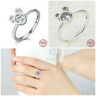 New Sterling Silver Rings for Women Dazzling Mickey Mouse Cute Disney Adorable