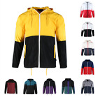 Beautiful Giant Mens Casual Hood Full Zip Lightweight Windbreaker Active Jacket