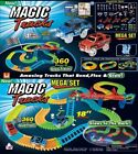 Magic Track 220 360 Glow In The Dark LED Light Up Race Car Bend Racetrack Gifts
