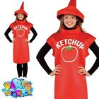 Mens Ladies Hot Dog Sauce Kethup Adult Fancy Dress American Food Outfit