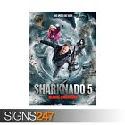 SHARKNADO 5 GLOBAL SWARMING (ZZ046)  MOVIE POSTER Poster Print Art A0 A1 A2 A3