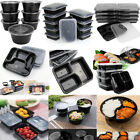 10/20/50 Set Meal Prep Container Plastic Food Storage Bento Lunch...