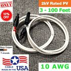 Внешний вид - Solar Panel PV Extension Cable Wire MC4 Connector 10 AWG Black Red Pair RV White