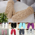 Womens Winter Warm Gloves Full Hand Warmer Ladies Stretchy Thick Knitted Mittens