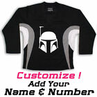 Boba Fett Silhouette Star Wars On Hockey Practice Jersey Name  Number too