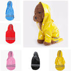 Dog Raincoat Reflective PU Waterproof Super Cool Hoodie Jacket Clothes For Pet