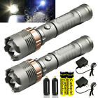 Police Tactical 90000LM T6 LED 5Modes Rechargeable Flashlight Torch Zoomable USA