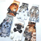 9A90 Unisex Winter Touch Screen Gloves Landscape Aninal Printed Multipattern War
