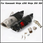Motorcycle Connect Middle Pipe + Exhaust Muffler Pipe For Kawasaki Ninja 250 300