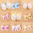 Внешний вид - 1 pair Baby Anti Scratch Gloves Newborn Protect Face Adjustable Scratch Mittens