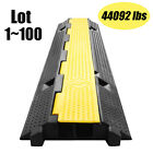 2Channel Heavy Duty Wire Cover Cable Cord Road Ramp Protector PVC And Rub