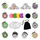 316L Stainless Steel Aromatherapy Pendant Essential Oil Diffuser Locket Necklace $5.93 USD on eBay