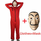 La Casa De Papel Cosplay Costume Salvador Dali Money Heist Suit & Face Mask Xmas