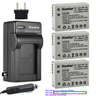 Kastar Battery AC Charger for Canon NB-10L NB-10LH NB10LH & Canon CB-2LC CB2LC