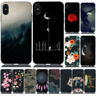 For iPhone XS Max XR X 8 7 Plus Shockproof Painted Silicone Soft TPU Case Cover
