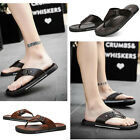 Mens Leather Luxury Shoes Summer Slippers Beach Casual Sandals Flip Flops 2018