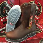 MEN'S WORK BOOTS APACHE GENUINE LEATHER BROWN ICE COLOR SOLES OIL SAFETY #602