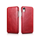 ICARER Vintage Series Edge Genuine Leather Flip Case Cover f iPhone X XR XS Max