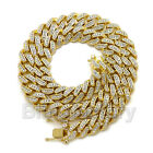 """SWISHER SWEETS CIGARILLOS & 12mm 18"""" Full Iced Cuban Bling Choker Chain Necklace"""