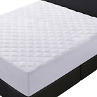"Quilted Fitted Mattress Pad Stretches Up To 16"" Mattress Topper Deep Fit Cover  image"