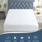 """Quilted Fitted Mattress Pad Stretches Up To 16"""" Mattress Topper Deep Fit Cover  image"""