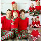 Family Matching Christmas Pajamas Set Adult Mens Womens Kids Sleepwear Nightwear