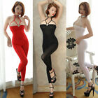 Sexy Women's Jumpsuits Sheer Transparent Bodysuit Bodystocking Catsuit Clubwear