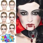 Vampire Make Up Kit FX Dracula Face Paint Fangs Halloween Fancy Dress Costume
