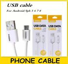 Cable Cargador Para iPhone y Para Android 2Pack Micro USB Charging Cable Lot