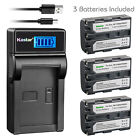 Kastar Battery LCD Charger for Sony NP-FM50 BC-VM50 Sony DCR-PC8 DCR-PC9 Camera